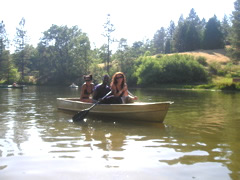 Boating on the lake
